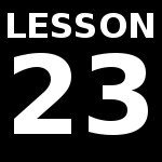 Lesson 23 – Special Verbs