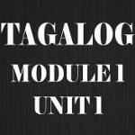 Tagalog Course Module 1 Unit 1